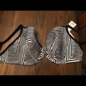 467e95e40de56 bravissimo Swim - NWT bikini TOP ONLY! Bravissimo black and white